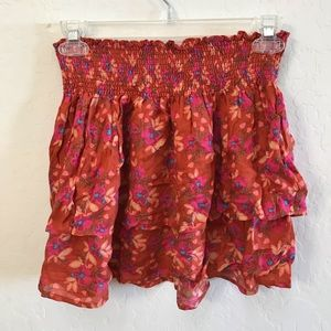 Natural Life floral tiered skirt